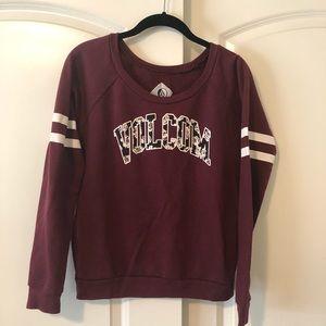 Burgundy Volcom Sweatshirt